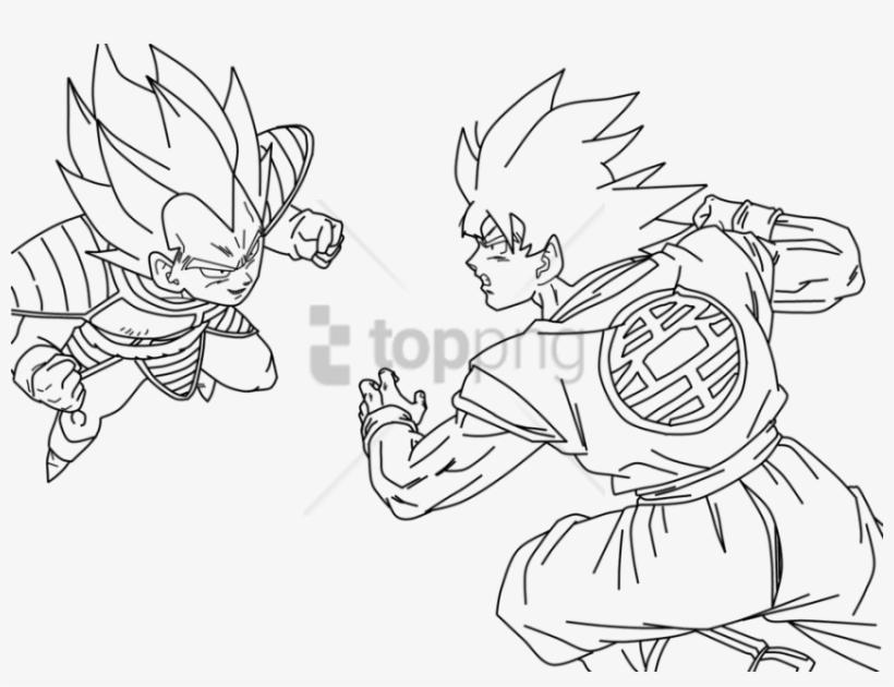 Free Png Dragon Ball Z Para Colorir Goku E Vegeta Png - Vegeta Y Goku Para Colorear, transparent png #9284843