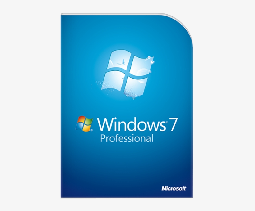 Microsoft Windows 7 Professional, transparent png #9285215