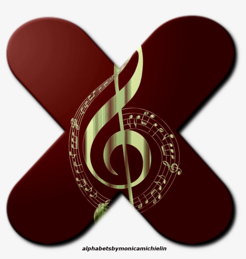 Alfabeto De Clave De Sol Png, Treble Clef Alphabet - Black And Gold Musical Notes, transparent png #9285732