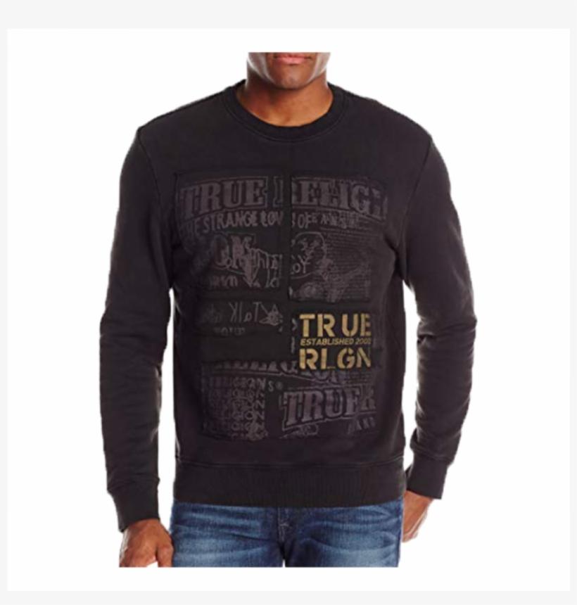 True Religion - Long-sleeved T-shirt, transparent png #9289836