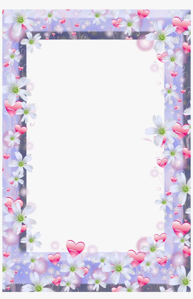 Pin By Slgudiel On Wallpapers And More - Violet Flower Frame Png, transparent png #930326