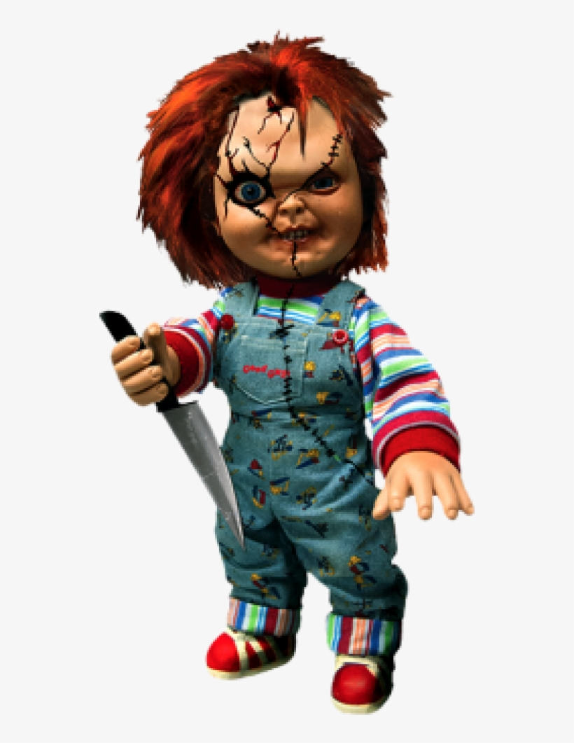 """Chucky 15-inch Non Talking Doll - Mezco Toyz Chucky Child's Play 15"""" Action Figure, transparent png #930416"""
