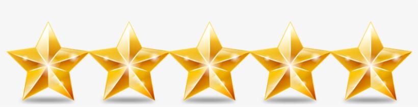Five Star Transparent - Golden Five Star Rating, transparent png #931168