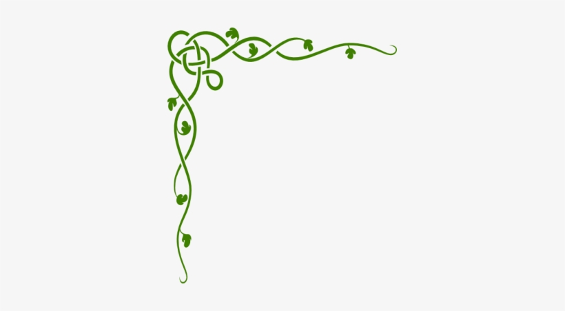 Rainforest Vines Clip Art - Vine Border Clipart, transparent png #931687