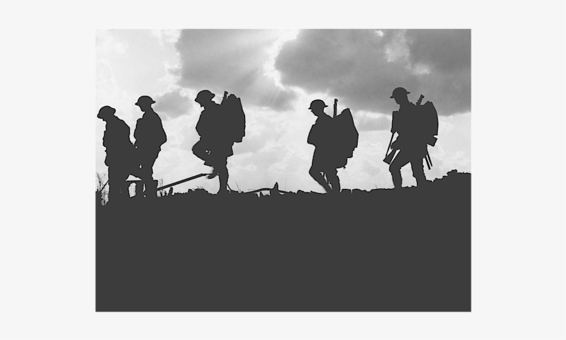 Click And Drag To Re-position The Image, If Desired - World War 1 Silhouette, transparent png #932122