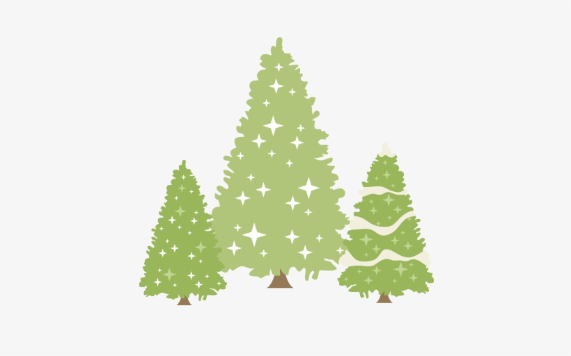 Glittery Pine Trees Set Svg Scrapbook Title Winter - Miss Kate Cuttables Christmas Tree, transparent png #933311