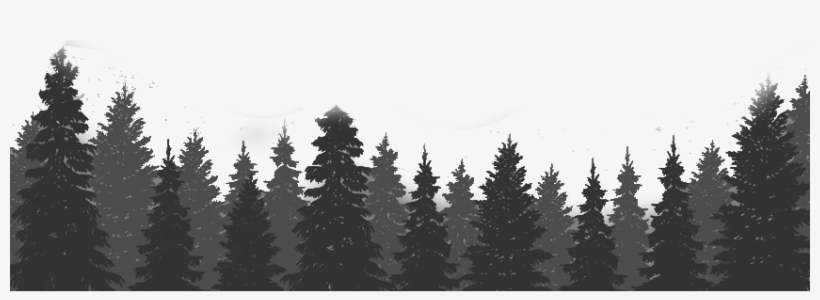 Trees - Forest Trees Black Png, transparent png #933967