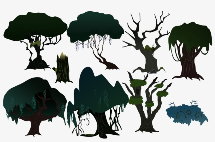 Everfree Forest Trees By Boneswolbach On Deviantart Mlp Everfree