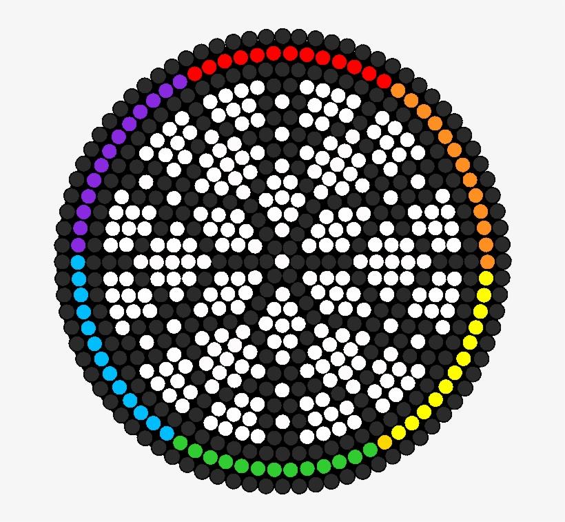 Circle Dream Catcher Perler Bead Pattern / Bead Sprite - Easy Pixel Art Dreamcatcher, transparent png #936597