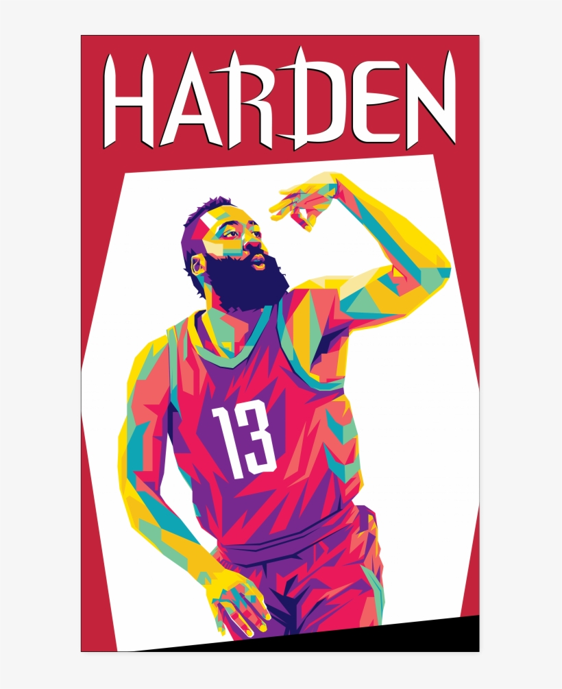 d5ae23d6156 James Harden Pop Art Poster - James Harden Pop Art - Free ...
