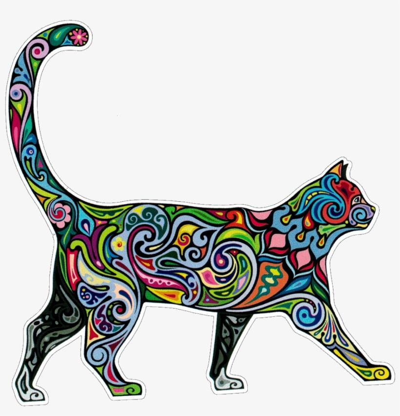Bumper Sticker / Decal - Watercolor Cat, transparent png #938673