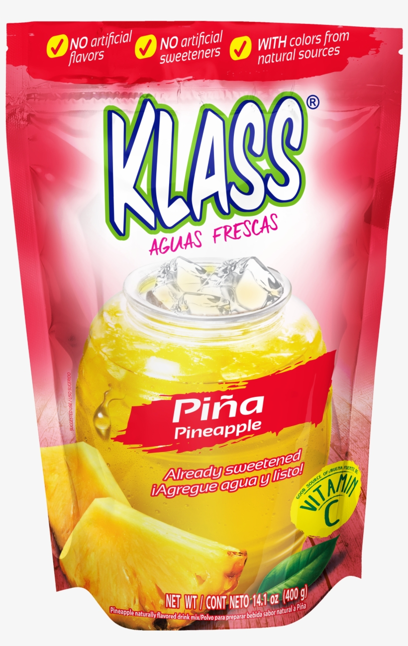 Klass Pineapple Naturally Flavored Drink Mix - Klass Drink Mix, Strawberry - 14.1 Oz Pouch, transparent png #938894