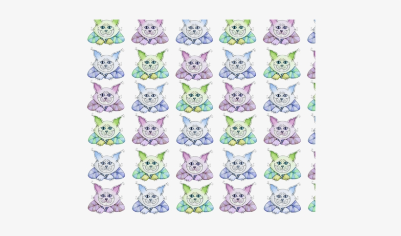 Cheshire Cat Fabric By 13blackcatsdesigns On Spoonflower - Cheshire Cat Bag, Adult Unisex, Natural And Navy, transparent png #939079
