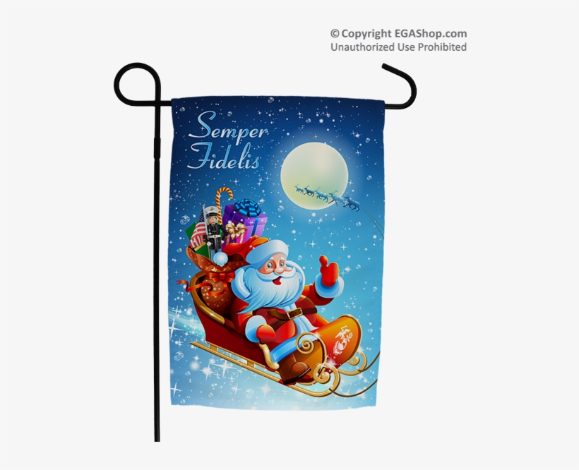 Merry Christmas Card With Santa, transparent png #9316751
