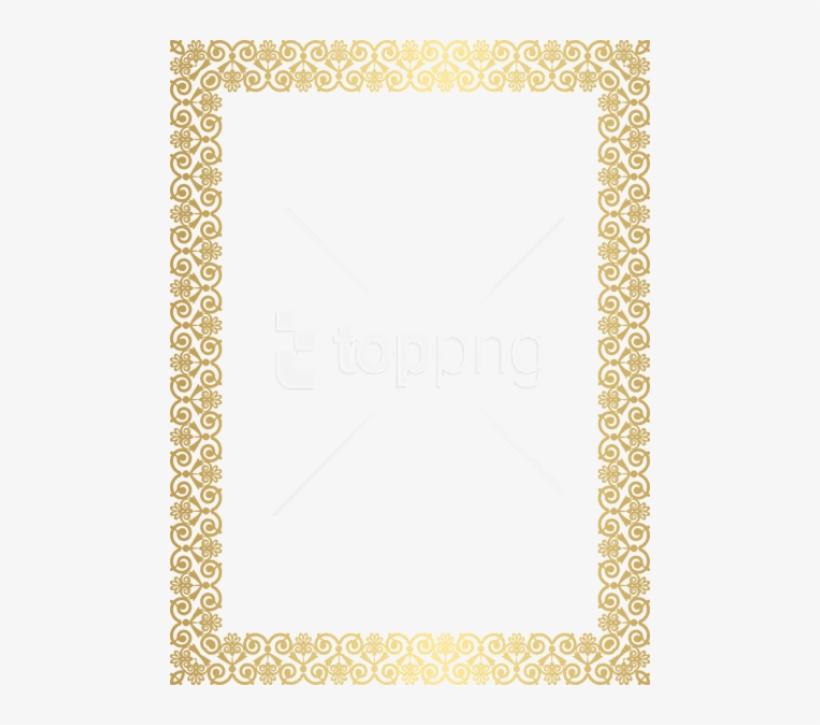 Free Png Download Gold Border Frame Clip Ar Clipart - Glitter Border Design, transparent png #9319543