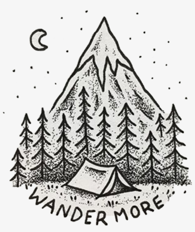 Tumblr Sticker - Mountain Things To Draw - Free Transparent PNG
