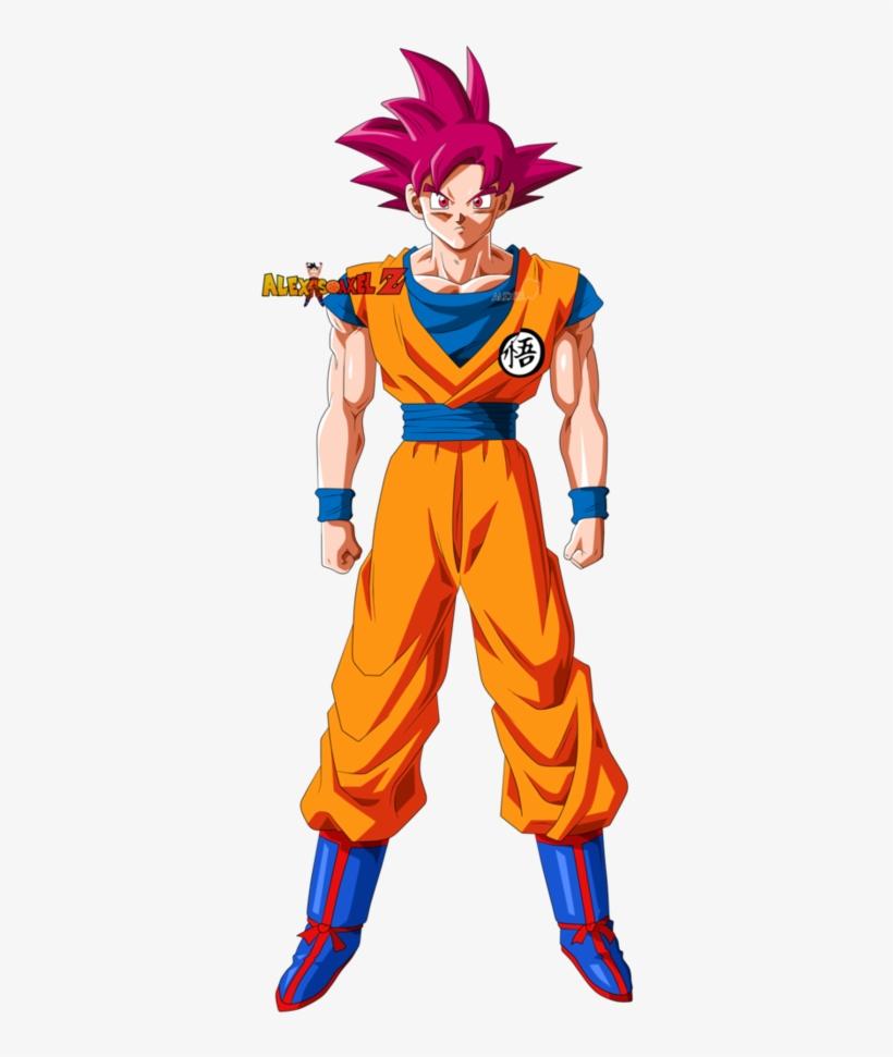 Goku Super Saiyan God By Alexiscabo1 - Goku Ssj God Alexis Cabo 1, transparent png #9325212