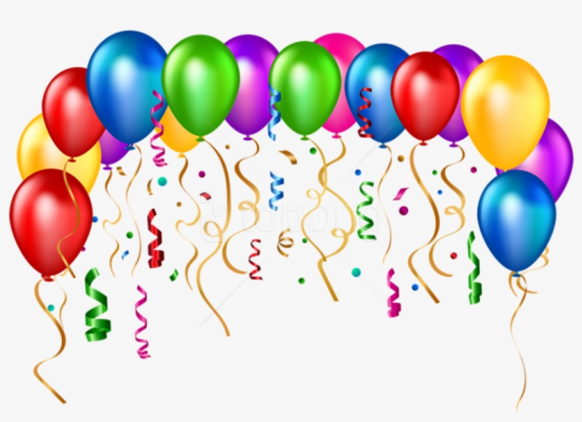 Balloons party. Free png download birthday