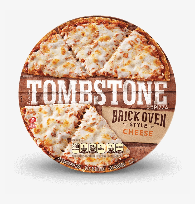 Tombstone Brick Oven Cheese Pizza - California-style Pizza, transparent png #9328047