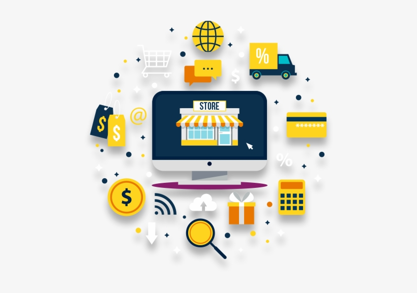 Ecommerce Website Development Services - Online Market Web Design, transparent png #9329155