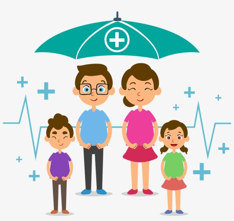 Group Health Insurance Broker - Family Health Insurance Cartoon, transparent png #9337327