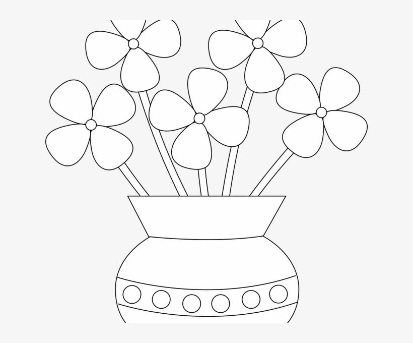 Vector Free Download Glass Vase Clipart - Drawing Flower Vase For Kids, transparent png #9338247