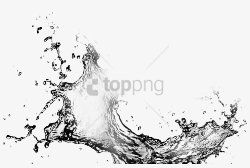 Free Png White Water Splash Png Png Image With Transparent - Water Splash Black And White Png, transparent png #9346596