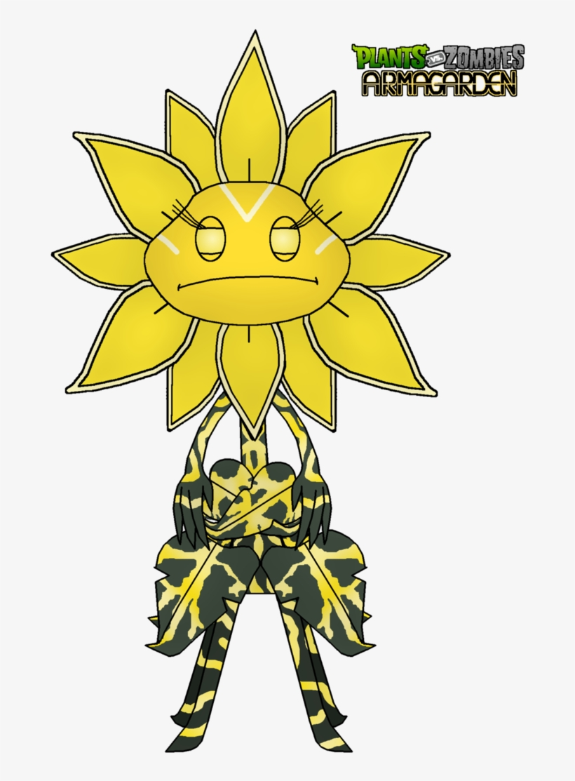 Sunflower Queen Giant Unit By Rose-supreme - Sunflower Plants Versus Zombie, transparent png #9348467