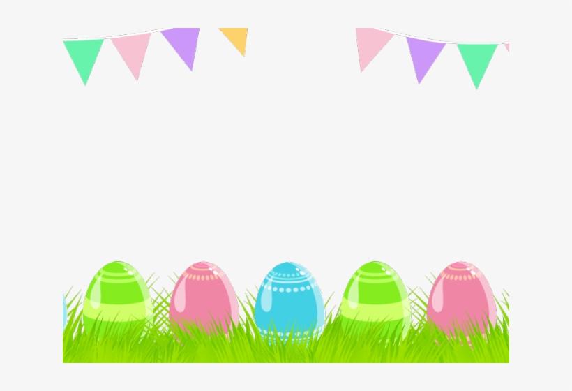 Easter Eggs Clipart Banner - Easter Clip Art Banner, transparent png #9351336