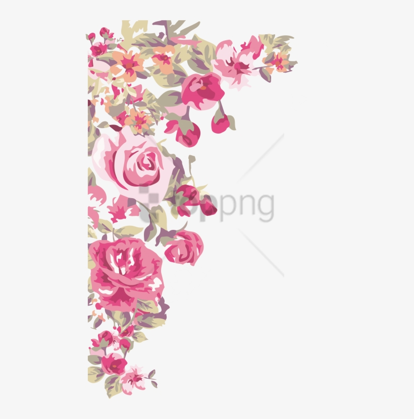 Free Png Border Design Corner Flower Png Image With - Flower Corner Border Png, transparent png #9353201