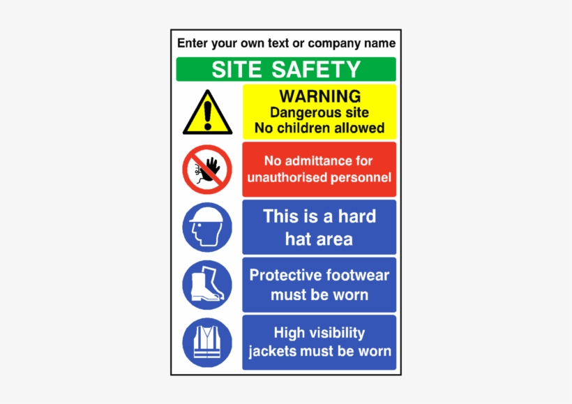 Construction Site Safety Sign Boards, transparent png #9354188