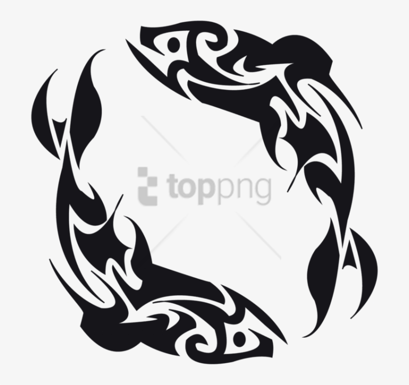 Free Png Double Koi Fish Tattoo Png Image With Transparent - Tribal Fish Tattoo Design, transparent png #9355333
