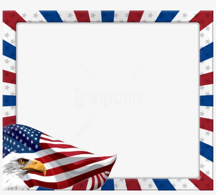 Free Png Download Usa American Eagleframe Png Images - American Flag Frame Png, transparent png #9360575