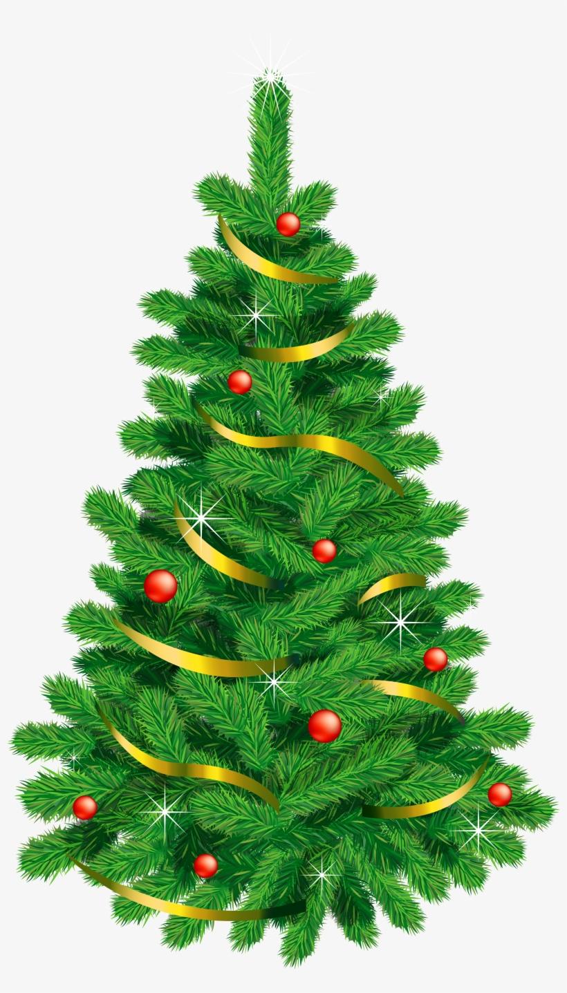 Transparent Green Deco Christmas Tree - Christmas Tree Cartoon Free, transparent png #9364745