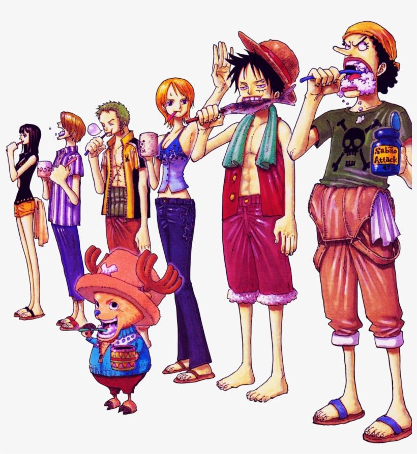 Luffy, Zoro, Nami, Usopp, Sanji, Chopper & Robin From - One Piece Eiichiro Oda Nami Luffy, transparent png #9365522