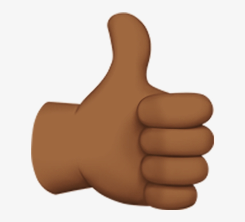 Yes - Thumbs Up Emoji Dark Skin, transparent png #9366165