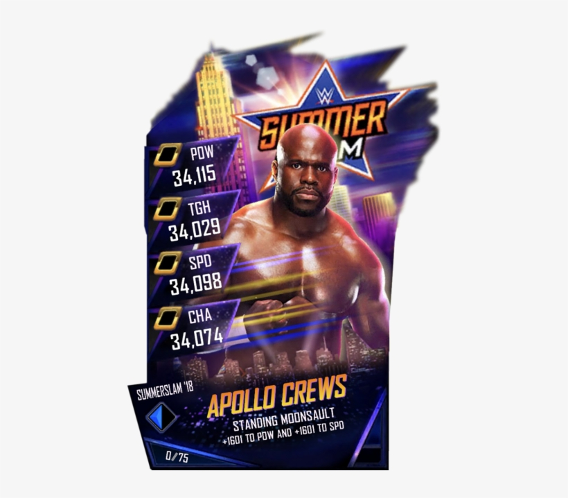 Wrestlemania Supercard Apollocrews R10 Summerslam Supercard - Wwe Supercard Ss18 Cards, transparent png #9374236