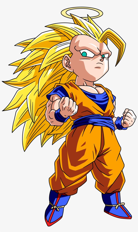 Goku Clipart Anime Chibi - Goku Super Saiyan 3 Chibi, transparent png #9384946
