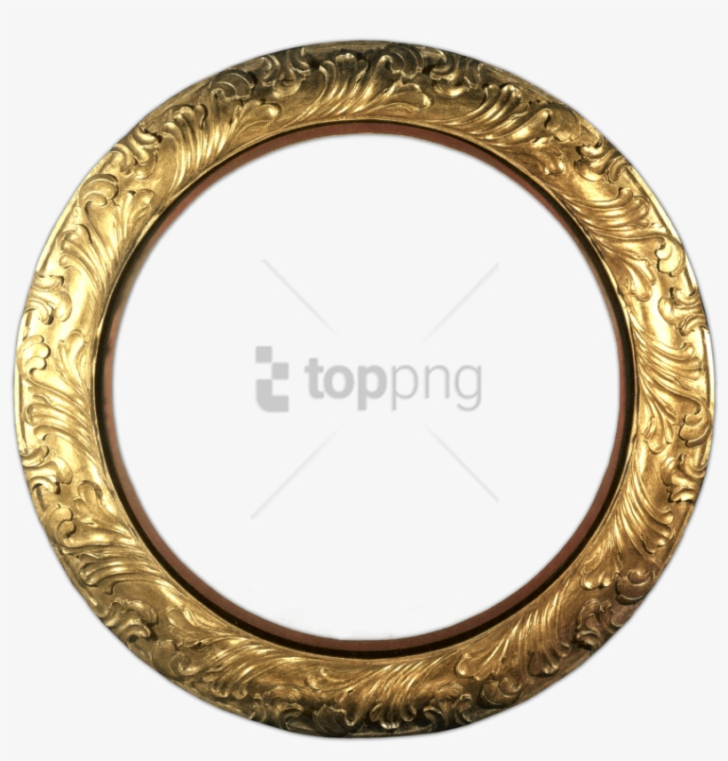 Free Png Gold Circle Frame Png Png Image With Transparent - Silver Circle Frame Png, transparent png #9385443