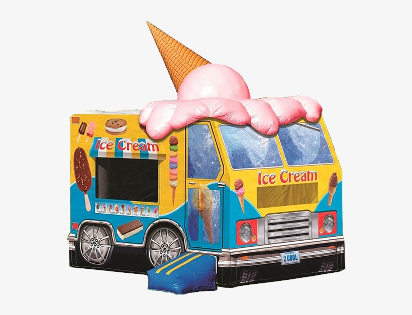 Ice Cream Truck Bounce House Rental In Iowa City Cedar - Bouncy Castle Ice Cream, transparent png #9387335