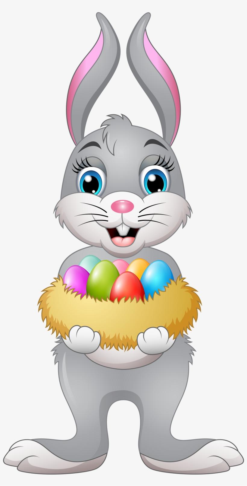 Easter Bunny Transparent Image - Easter Bunny Holding Easter Egg, transparent png #9393696