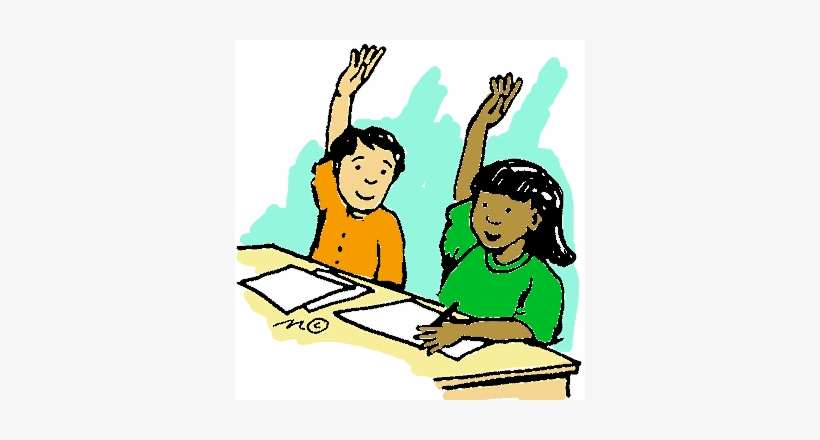 Raised Hand Cliparts - Put Your Hands Up Cartoon, transparent png #940236