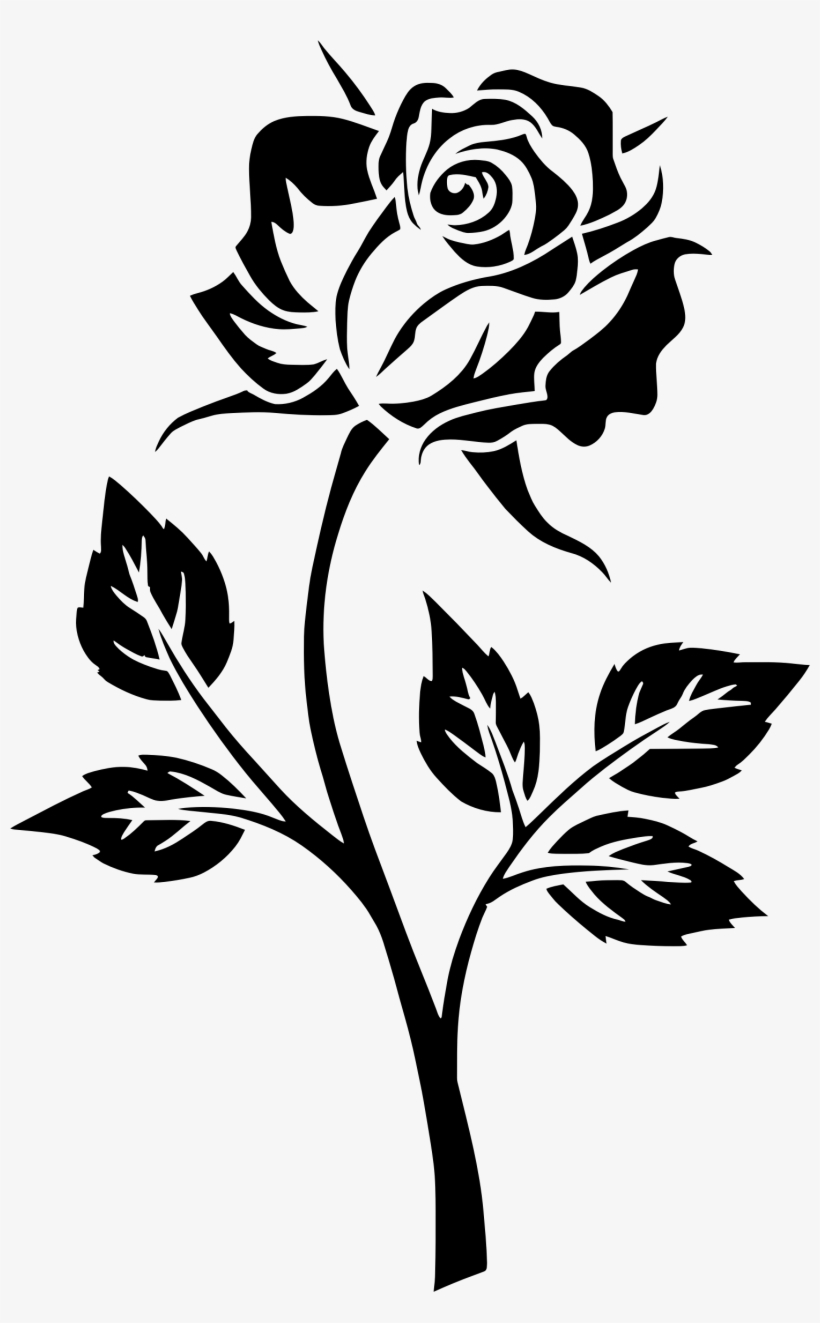 Black And White Rose Png Red Rose Logo Transparent Background
