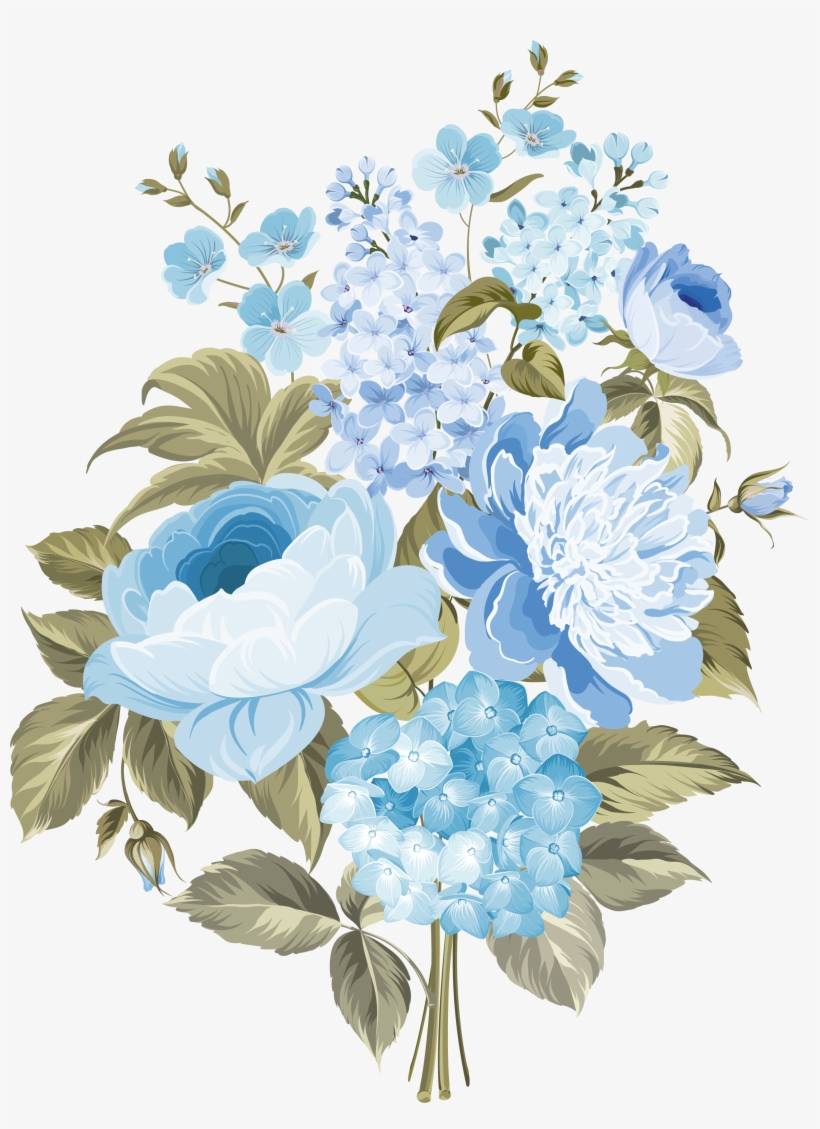 Flower Blue Blue And White Flowers Png Free Transparent Png