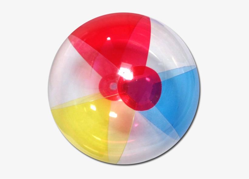 Beach Balls - Red Blue Yellow Clear Beach Ball, transparent png #943928