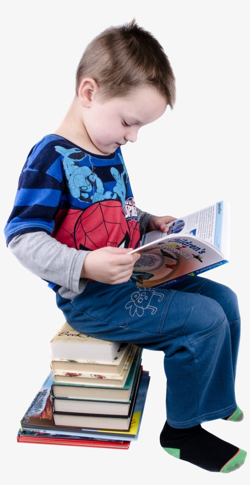 Boy Reading Books Png Image - Reading Books Png, transparent png #944168