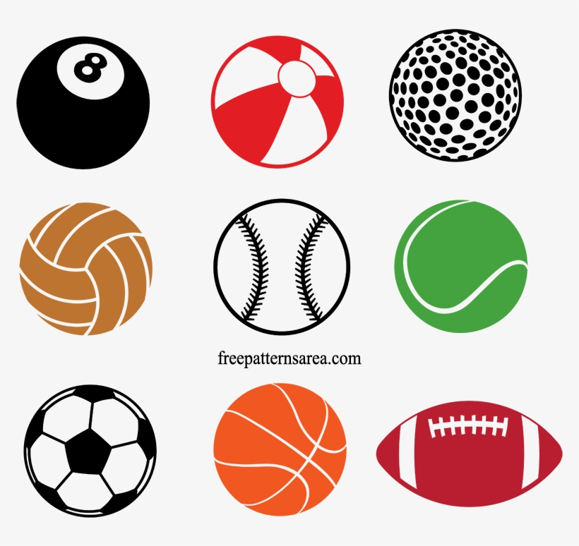 Soccer, Basketball, American Football, Volleyball, - Designer Stencils Sports Ball Cookie Stencils Cake, transparent png #944452
