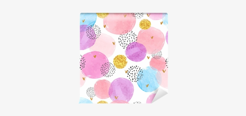 Abstract Celebration Background With Watercolor Circles - Watercolor Celebration Pattern Background, transparent png #946182