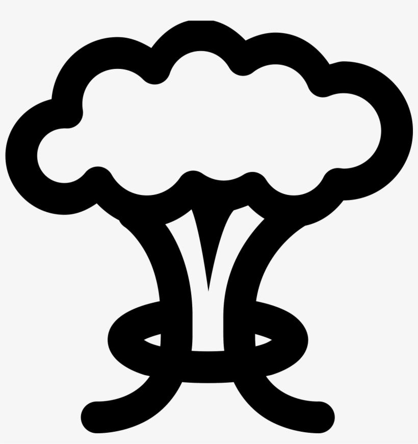 Vector Mushroom Vector Black And White - Mushroom Cloud Vector Png, transparent png #946609