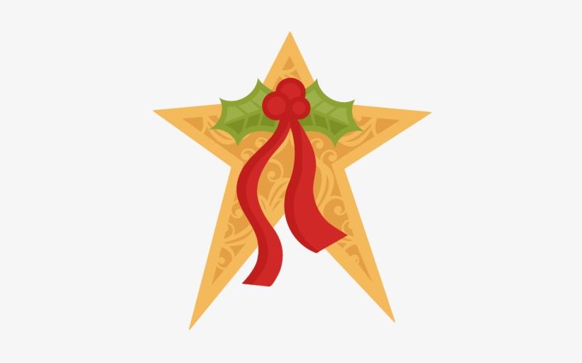 Christmas Star Svg Scrapbook Cut File Cute Clipart - Cute Christmas Star Clipart, transparent png